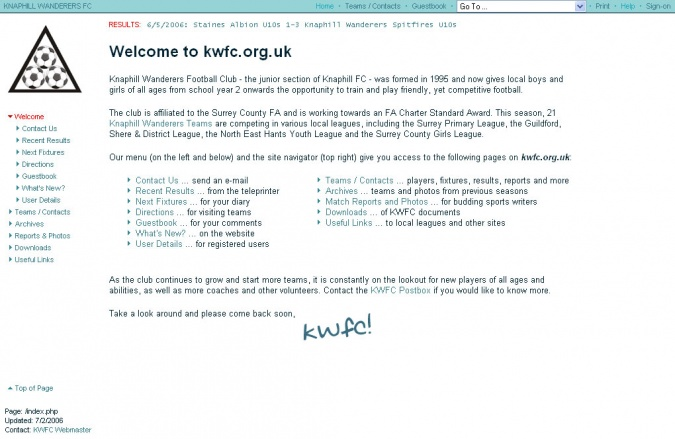 Kwfc.org.uk: Home Page