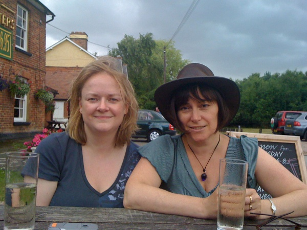 Debbie and Laura at the Cricketers