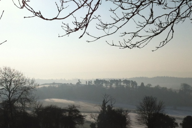 Early morning mist on the Surrey Hills