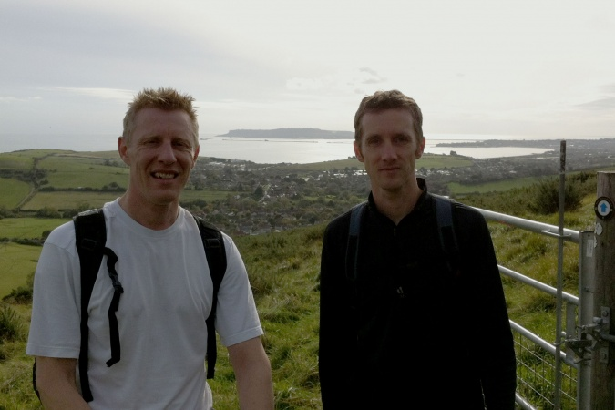 Andy and Mike overlooking Weymouth