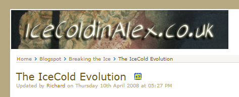 IceColdinAlex.co.uk (v3.07): Complimentary look